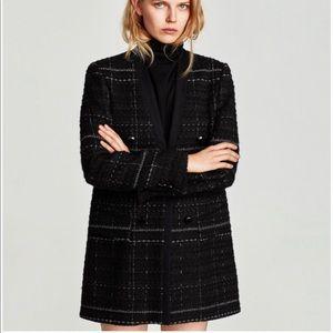 Zara Checked Frock Coat